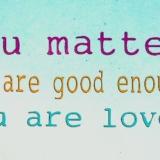 You matter'